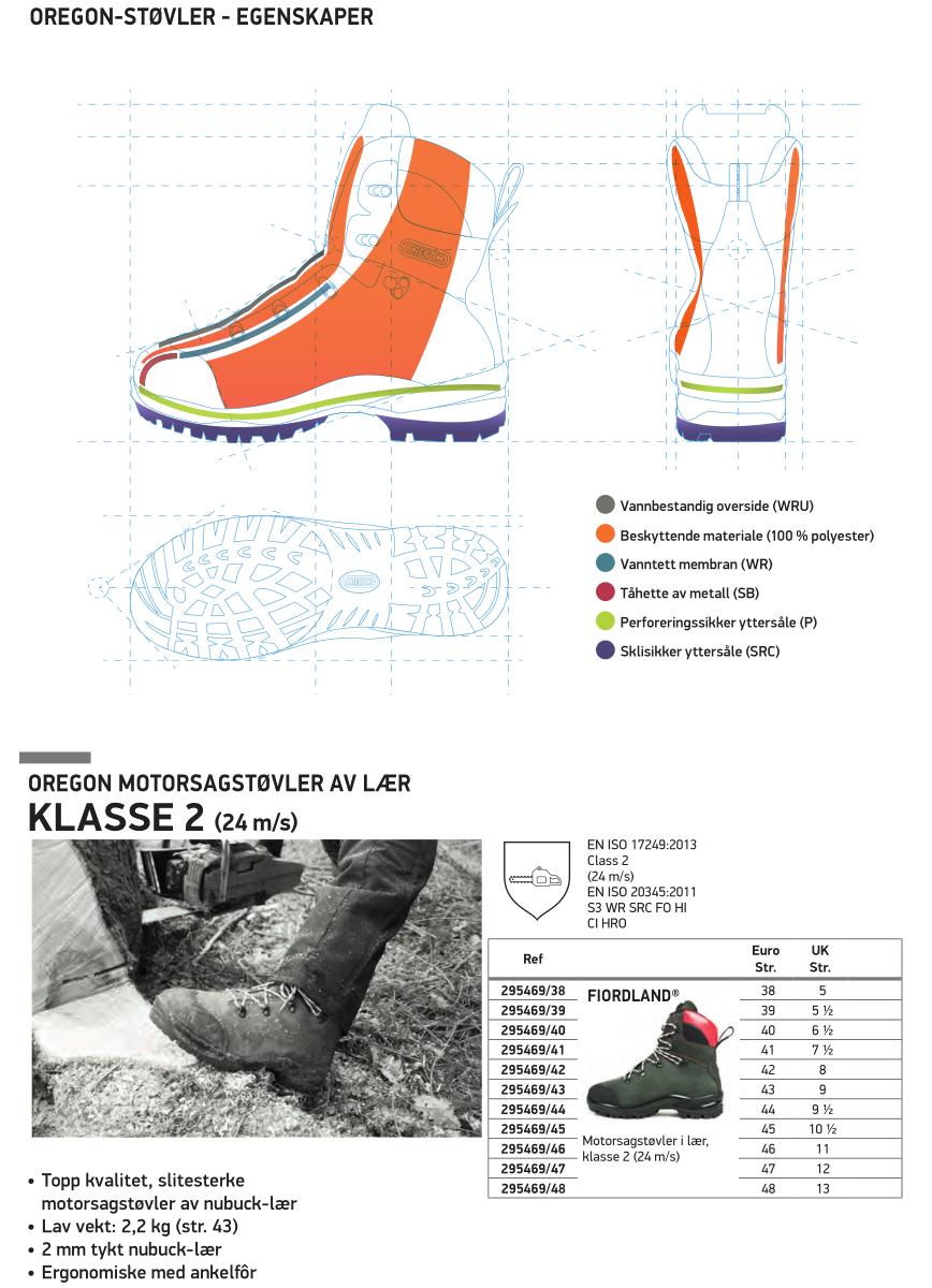 Oregon Yukon Motorsag Støvler Hogst Boots skogogvarme.no